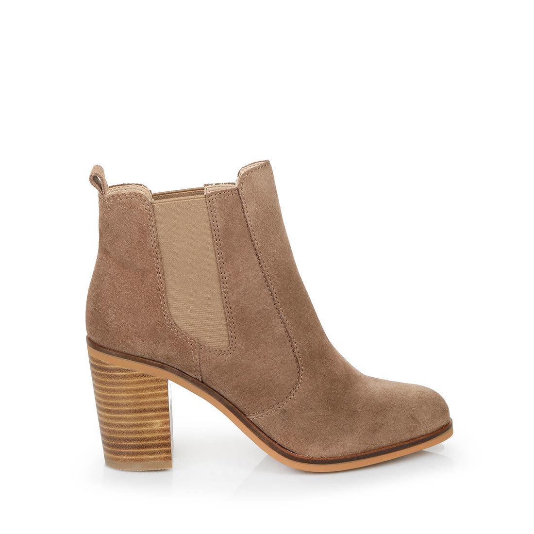 Buffalo ankle boots in dark beige buy online in BUFFALO
