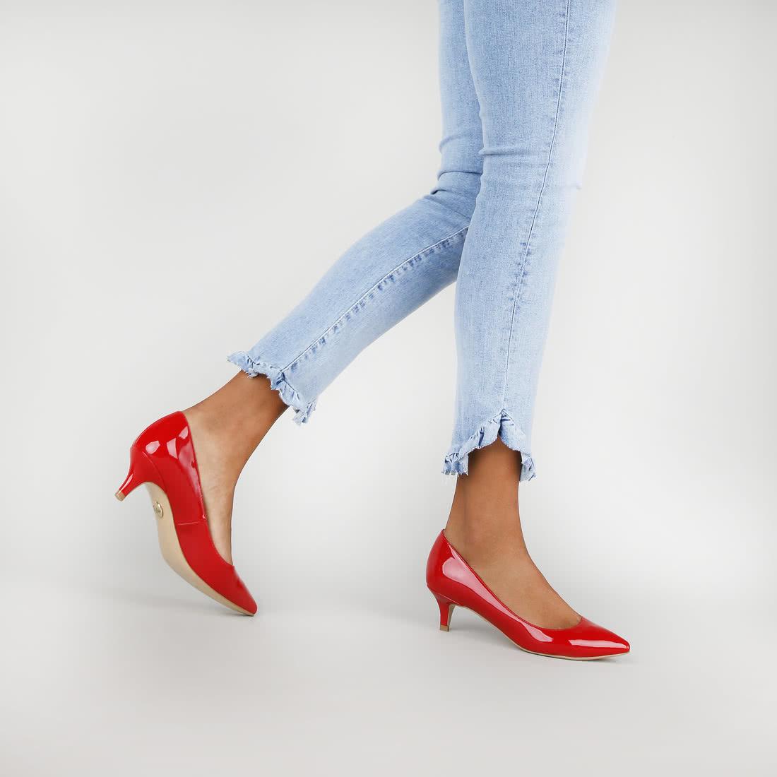 Amber Pumps Lackoptik rot online kaufen | BUFFALO®