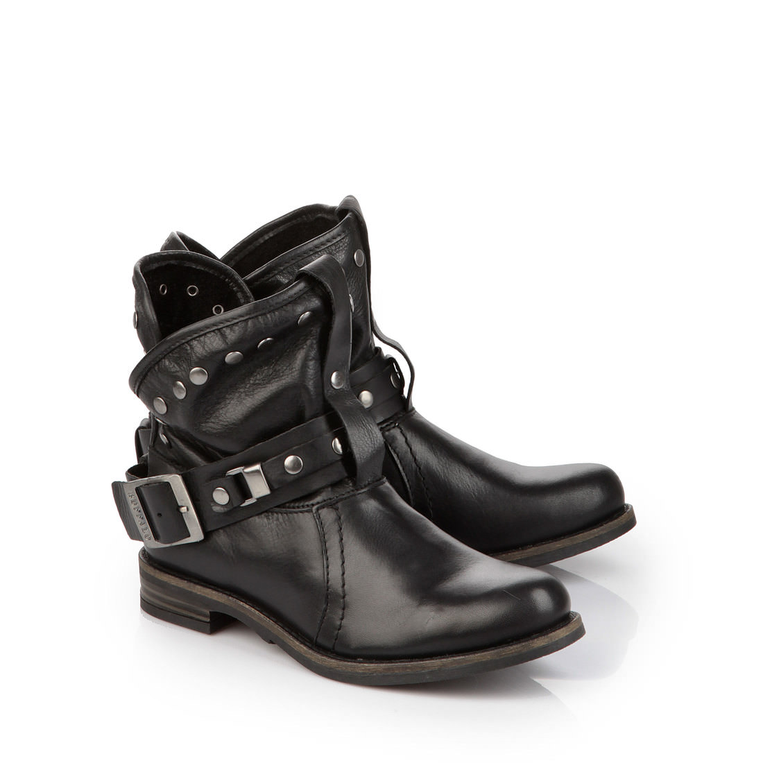 buffalo biker booties in black buy online in buffalo online shop buffalo. Black Bedroom Furniture Sets. Home Design Ideas