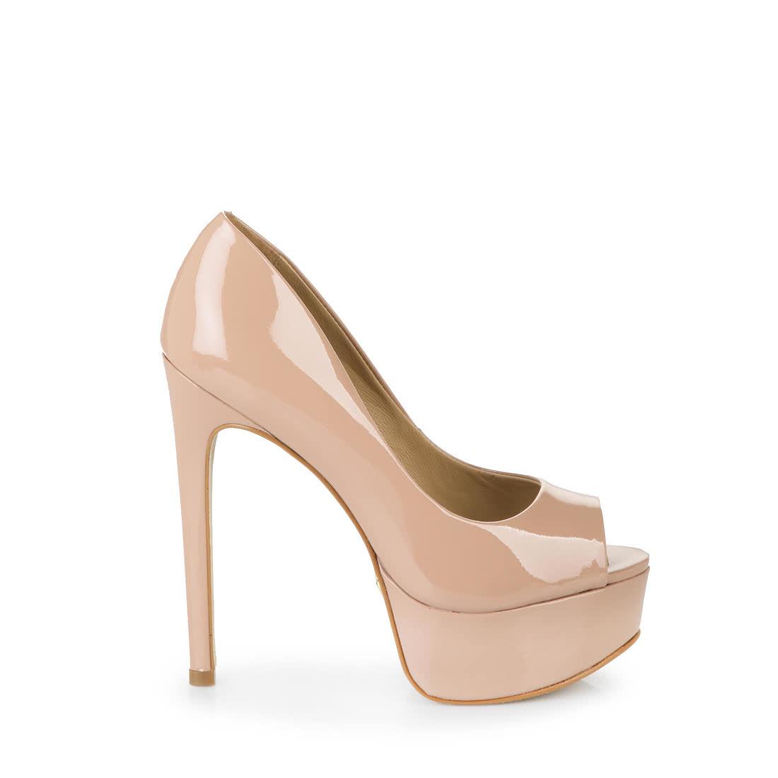 9f6927bd18d2 Buffalo platform peep-toes in nude buy online in BUFFALO Online-Shop ...