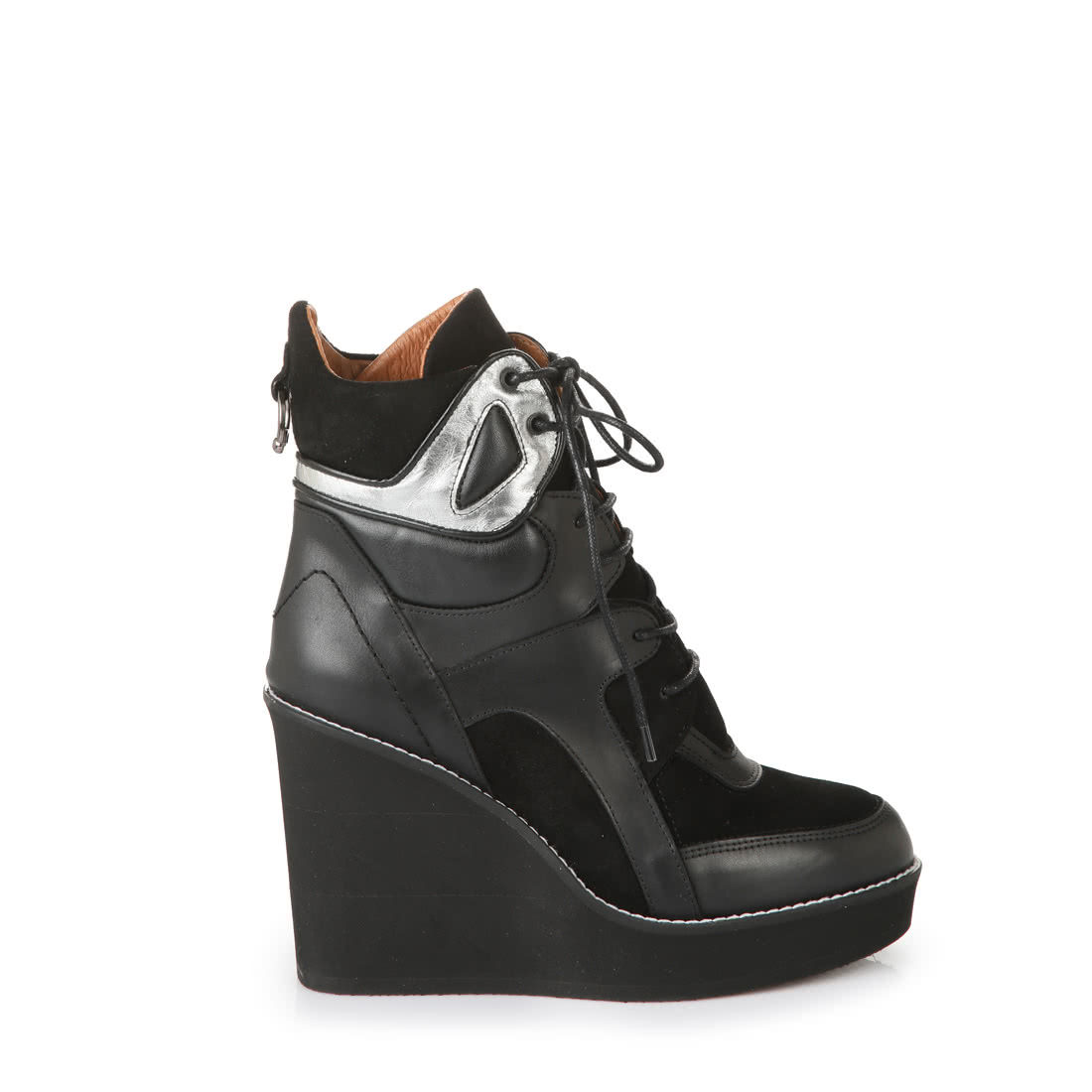 Buffalo Keil Stiefelette in schwarz metallic online kaufen