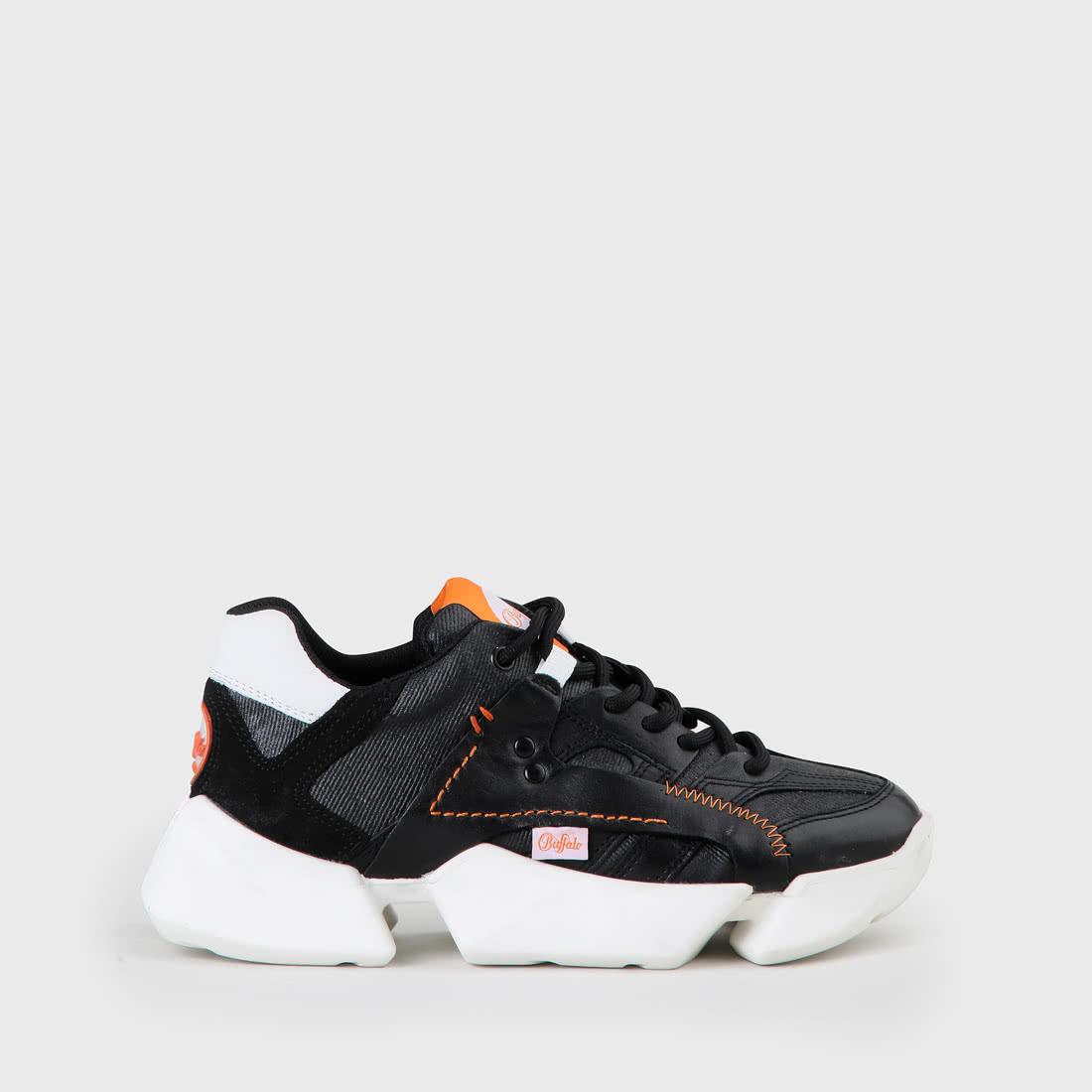 Garvey Sport Sneaker LederNylon schwarz