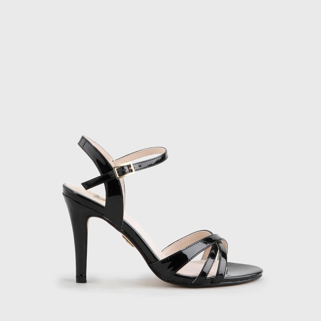 0e0d882586d Anja sandale optique vernie noire acheter à BUFFALO en ligne