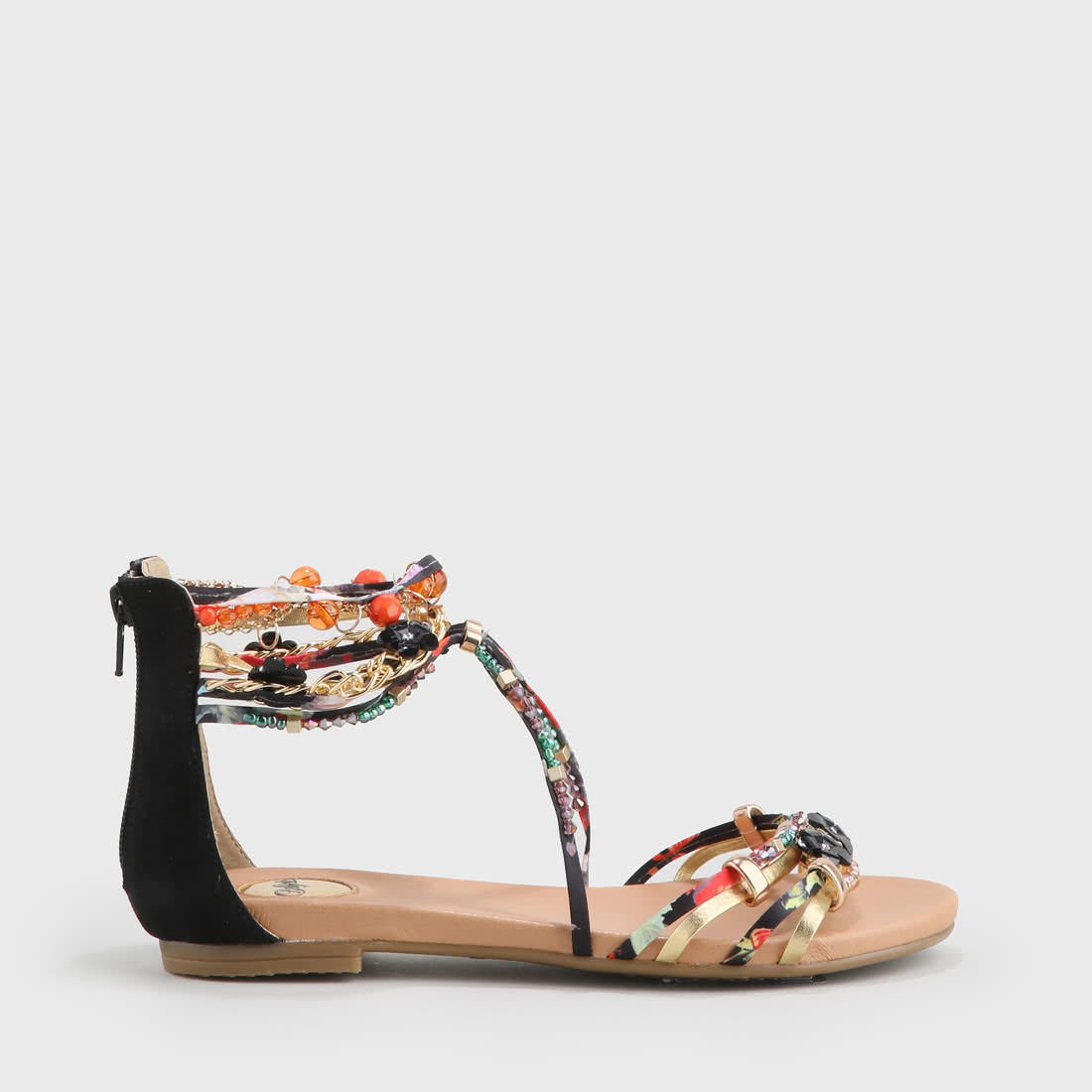 1f455bd5136 Elora Sandals Suede Look Navy/Red