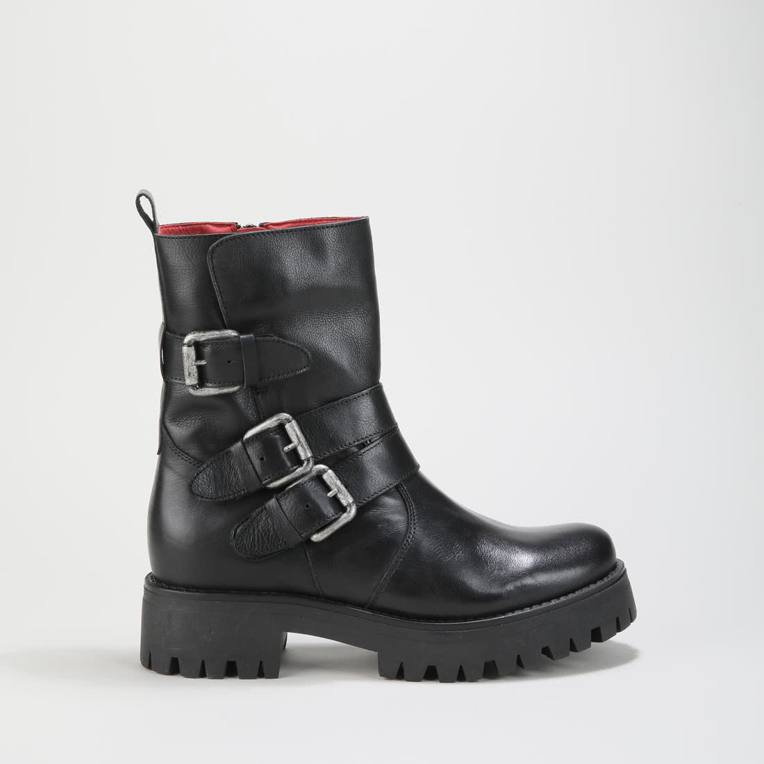 Mauve Morn Boot leather black silver buy online in BUFFALO Online ... 3667e21115