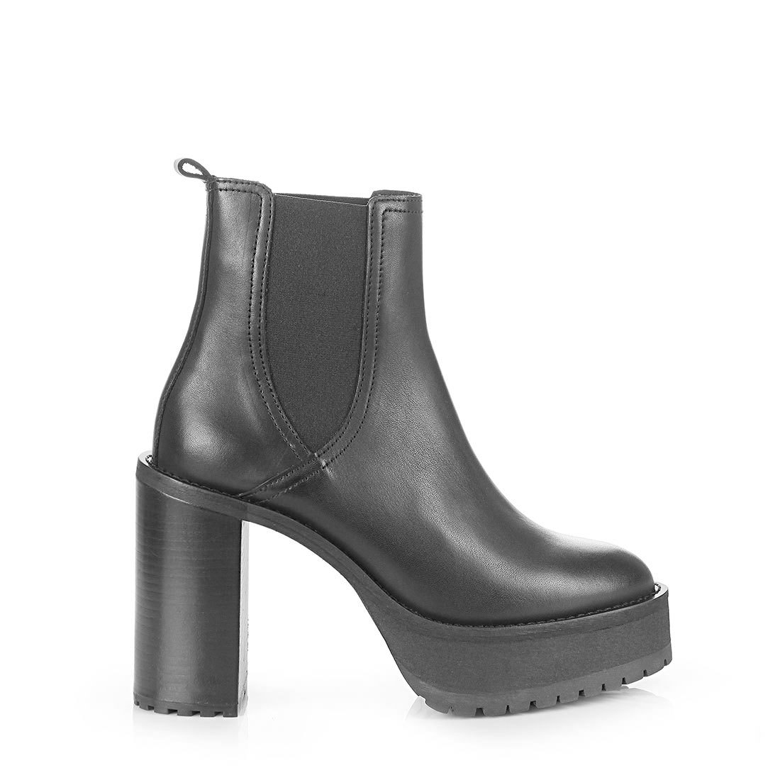 Buffalo platform ankle boots in black buy online in BUFFALO Online ...
