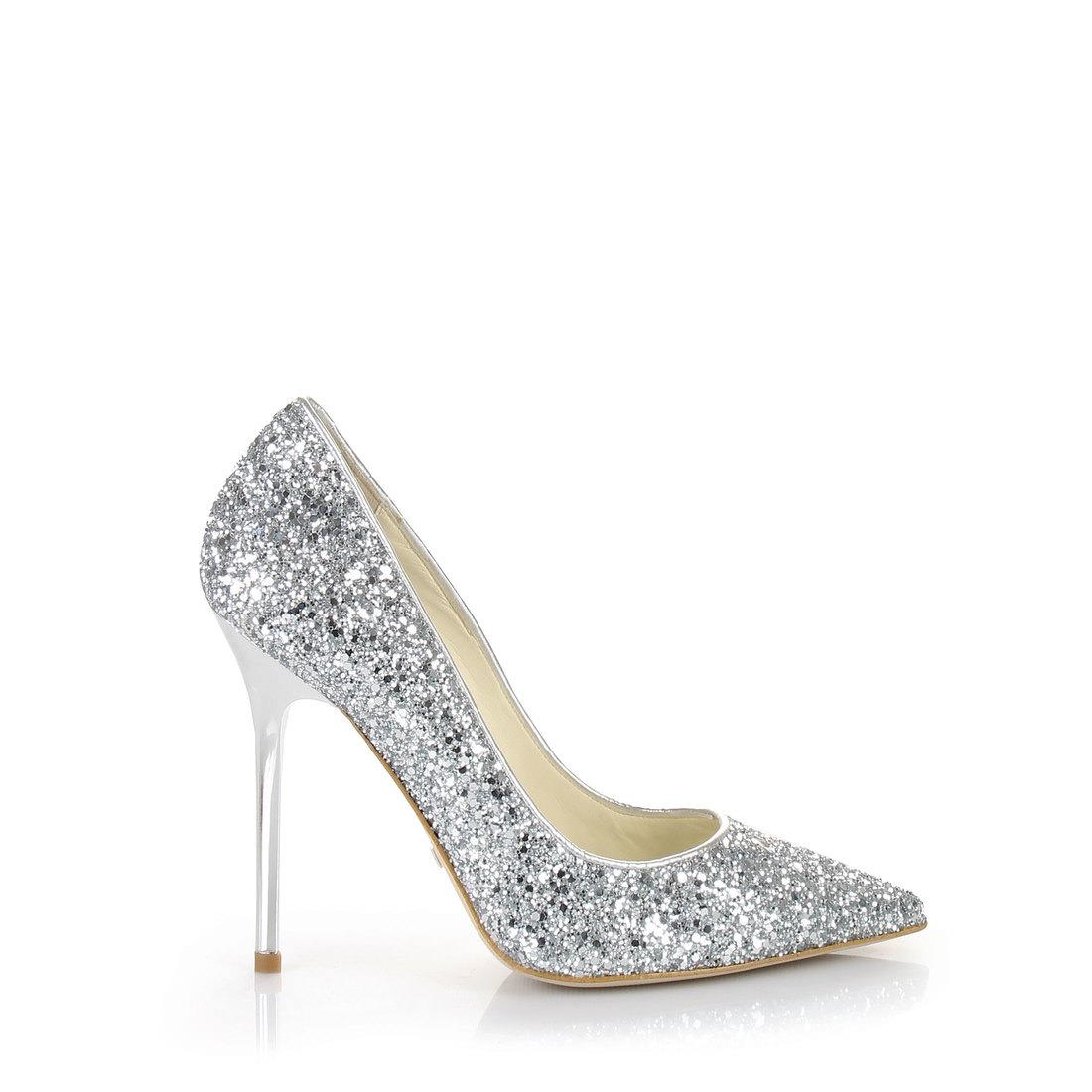 564b523983f7 Buffalo glitter pumps in silver buy online in BUFFALO Online-Shop ...