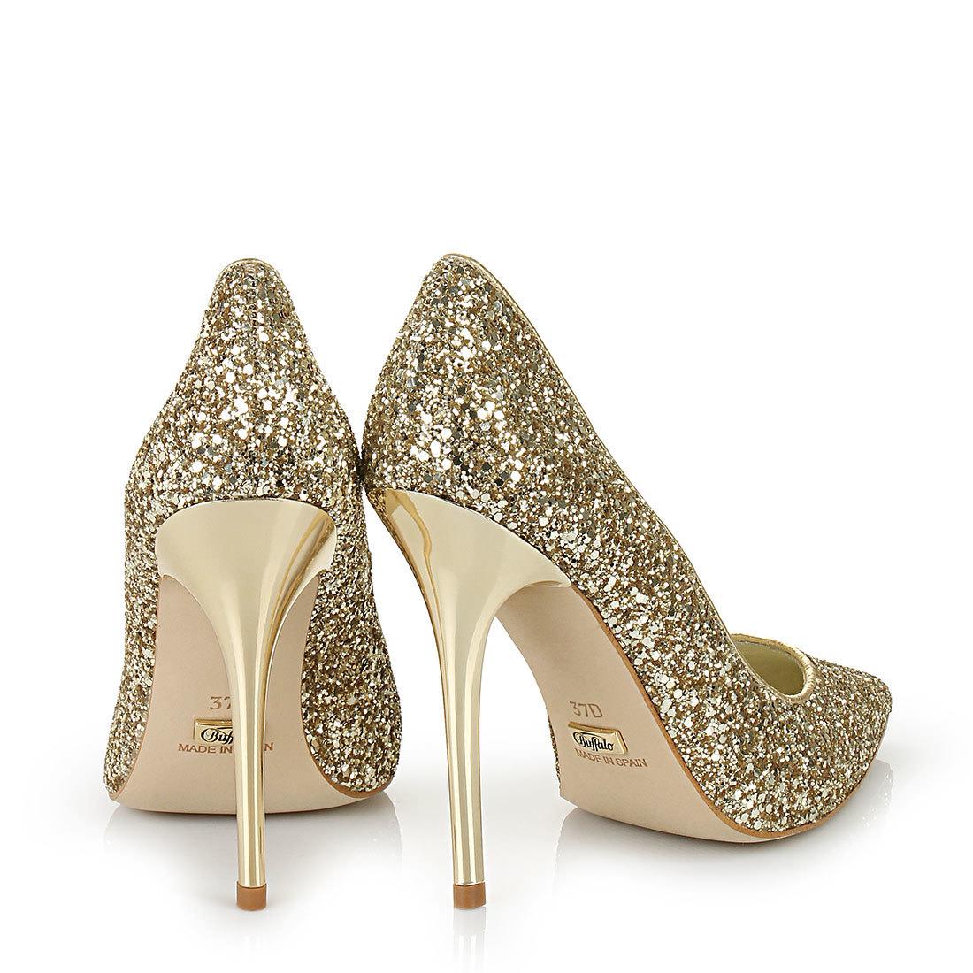 Buffalo glitter pumps in gold buy online in BUFFALO Online-Shop ...