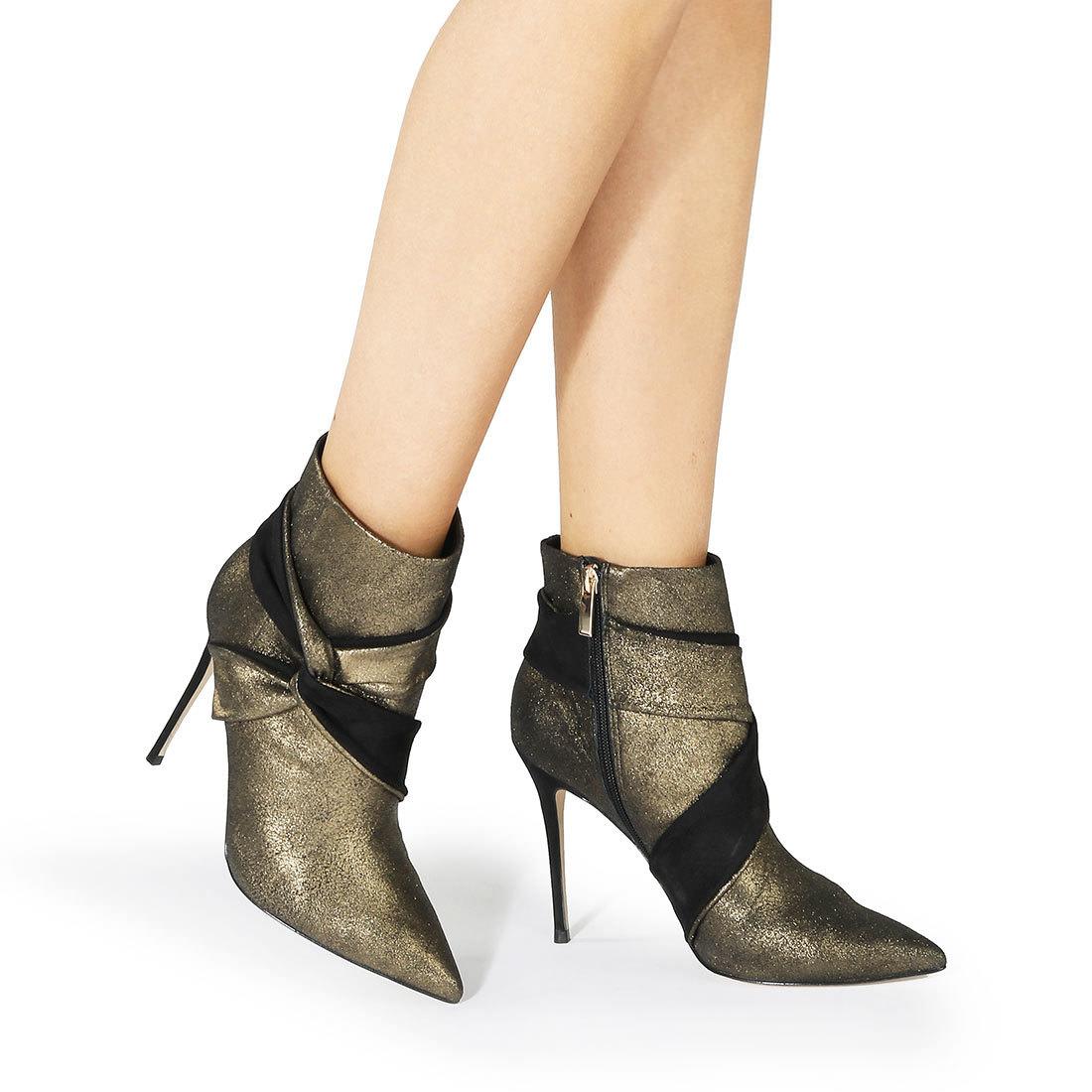 size 40 6558a ec015 Buffalo ankle boots in gold buy online in BUFFALO Online ...