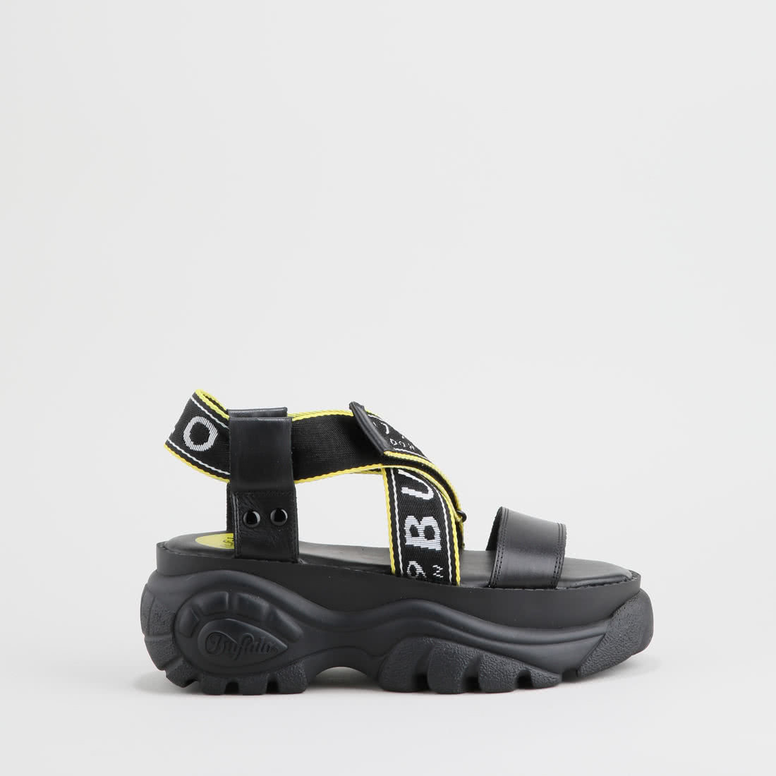 9822a0dac2a Bo Platform Sandal nappa leather black buy online in BUFFALO Online ...