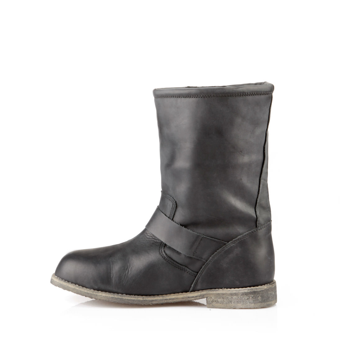 gef tterte buffalo biker boots in schwarz online kaufen. Black Bedroom Furniture Sets. Home Design Ideas