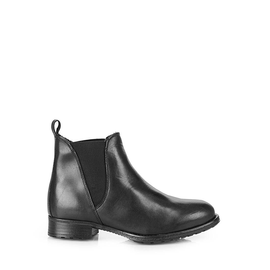 gef tterte buffalo chelsea boots in schwarz mit kleinem. Black Bedroom Furniture Sets. Home Design Ideas
