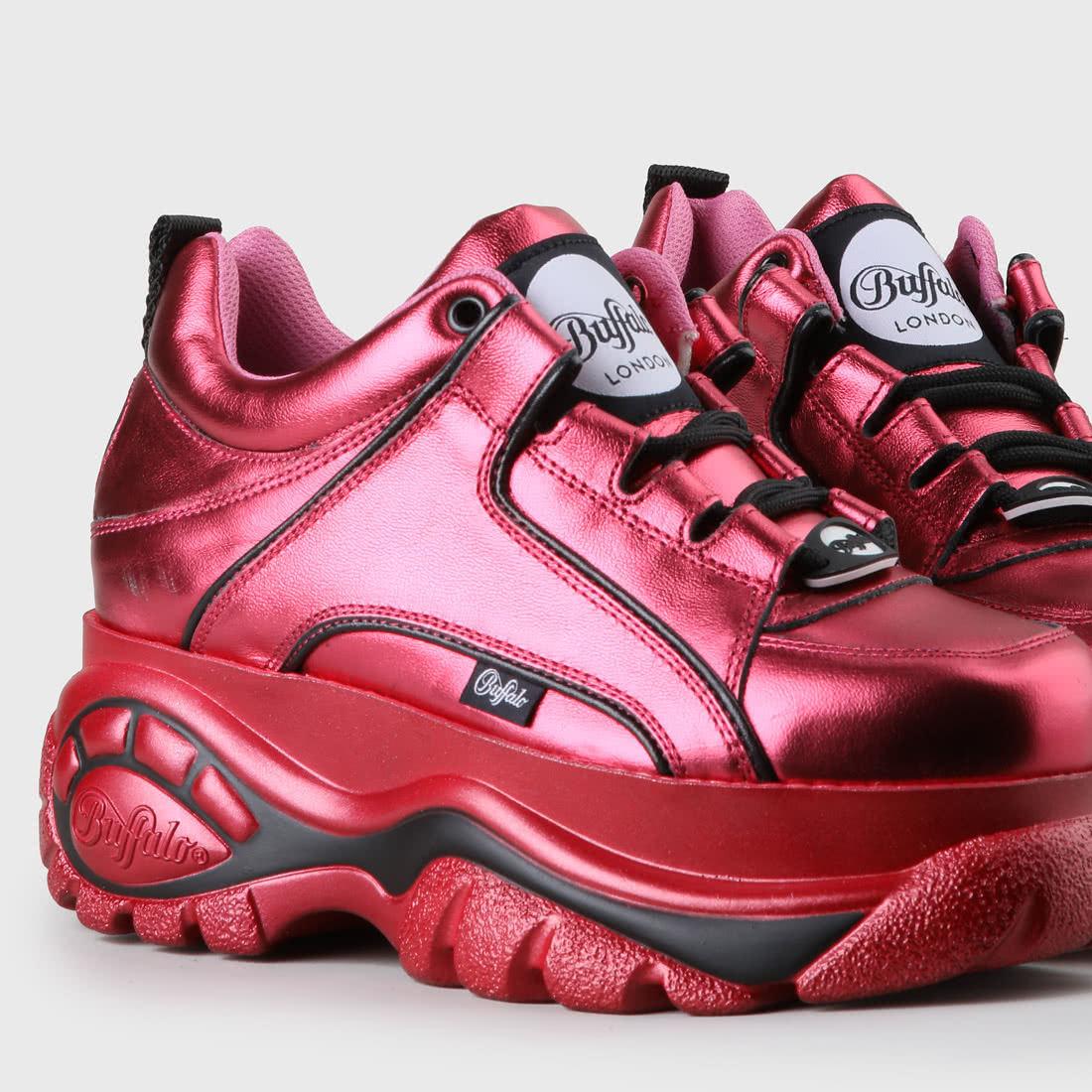 the latest 30f2f 1cb96 Buffalo Classic Plateau-Sneaker aus Leder Magenta