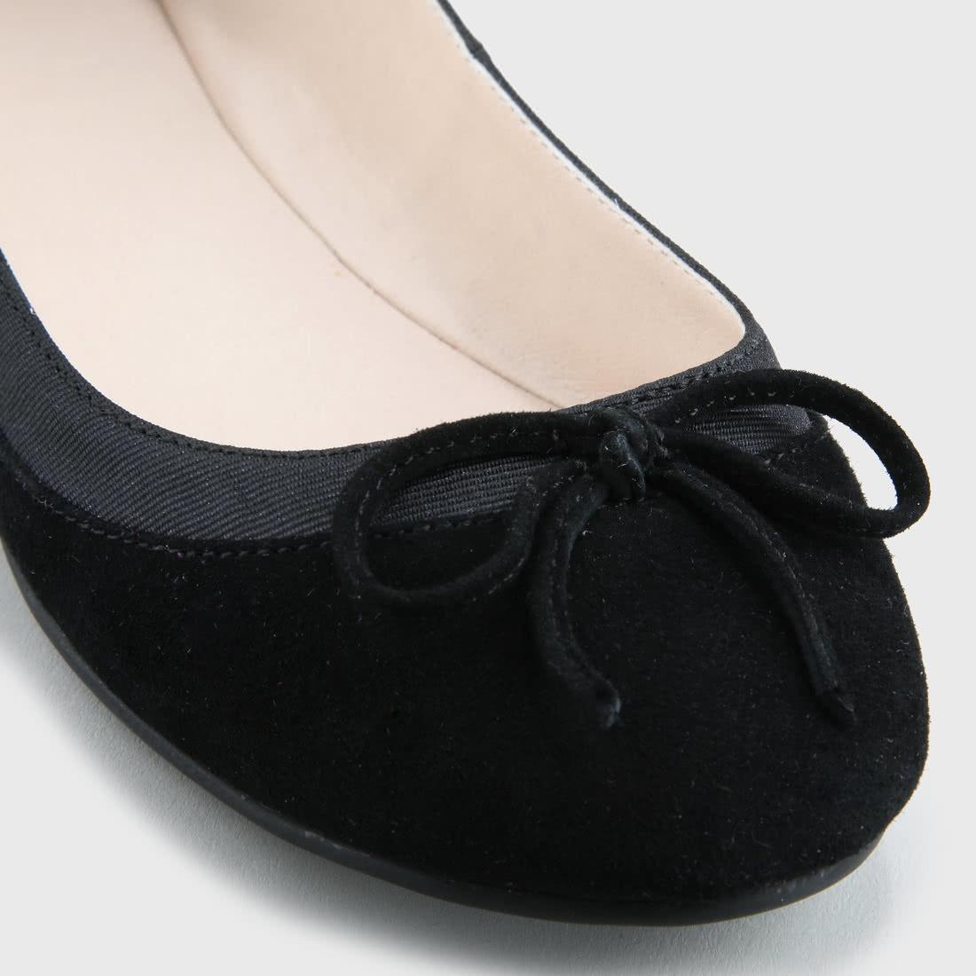 Annelie Ballerina suede leather black buy online in BUFFALO
