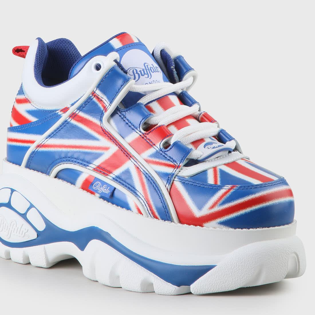 Buffalo Classics Sneaker UK-Flagge Blau/rot Online Kaufen