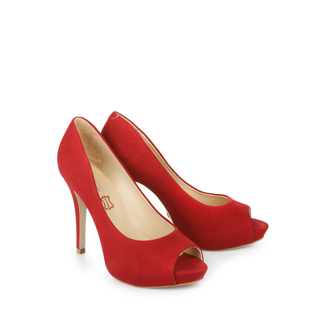 Buffalo platform peep toes in red buy online in buffalo - My peep toes ...