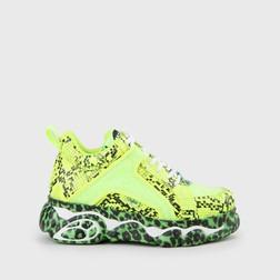 7c3e3fb957ac45 Jaded x CLD Corin Sneaker snakeskin neon grün mit Glitzer