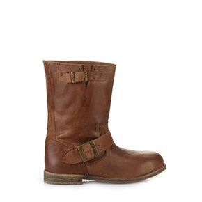 1777199c830768 Buffalo Biker-Boots in cognac aus Leder