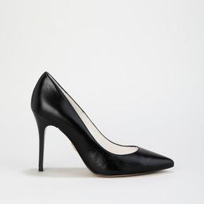c3eb55fa39ab0 escarpin pointu cuir noir