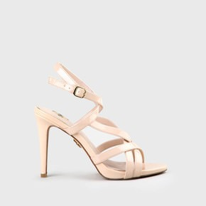 962fcd558a75f7 Evia High-Heeled Sandal Lacquer Look Nude