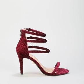 4e00f10557fb Rosebloom crocodile velvet burgundy