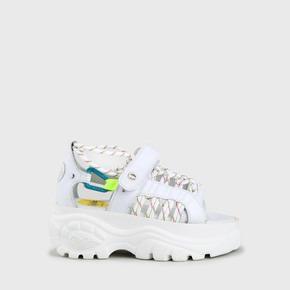 85fd00a5d2a4 Buffalo London. Neu. Elin platform sandal nappa leather white