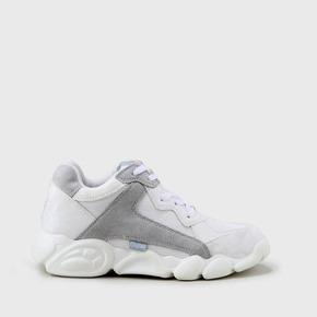 1df275316b0d9c CLD Cairo Sneaker aus Mesh und Lederoptik weiß grau