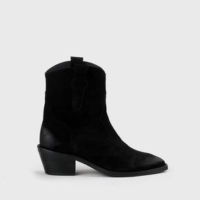 ASH OVERKNEE STIEFEL Boots Leder Schwarz Gr. 40 EUR 69,00