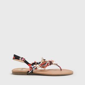 8e1fd12e0 Buffalo Thong Sandals Beads Navy Red
