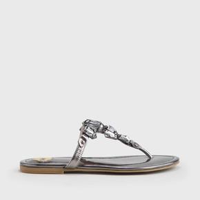 a857ff4de Edina sandal leather look metallics pewter