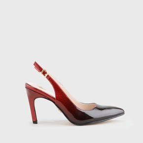 992bd40090ad0b Alva sling pumps patent leather look black-red