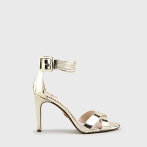9dcc27ec96a Amina party sandals patent leather look gold