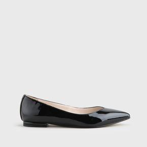 1ce8d759a4f32 Amireh ballet flats black lacquer look