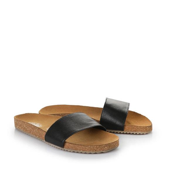BUFFALO Pantoletten schwarz WYh4dL8QaC