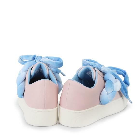 Buffalo Platform Slip Ons In Pink Light Blue Buy Online In