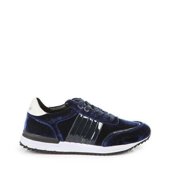 Sneaker in dunkelblau aus Samt Buffalo