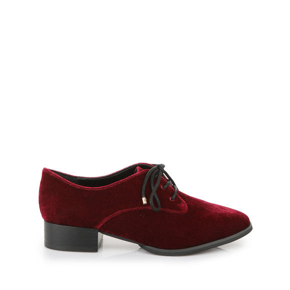 Chaussure à lacets Buffalo en velours bordeauxBuffalo