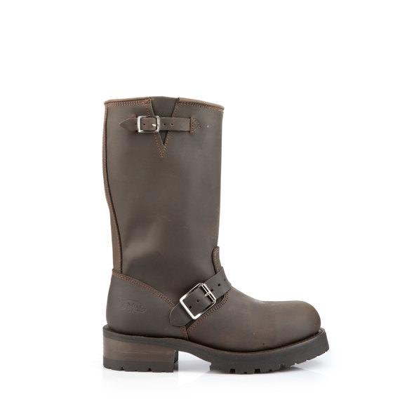 ee6548ebb26e6 Buffalo brown leather biker booties buy online in BUFFALO Online-Shop