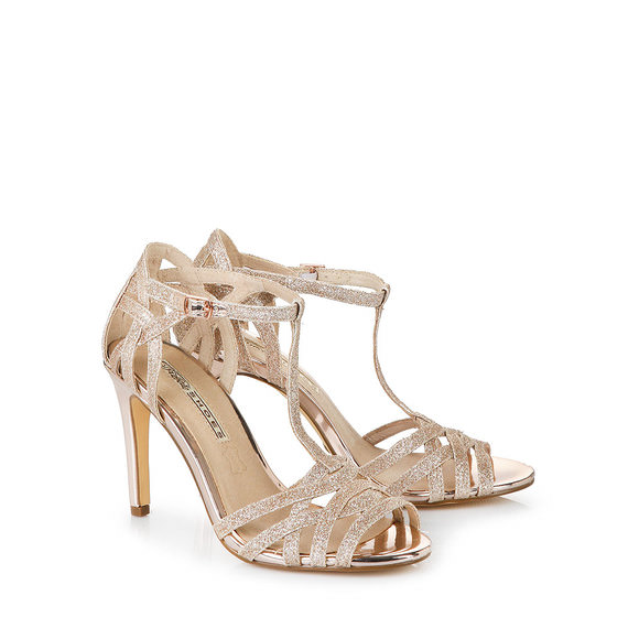 Buffalo high-heeled sandals in bronze buy online in BUFFALO Online ...
