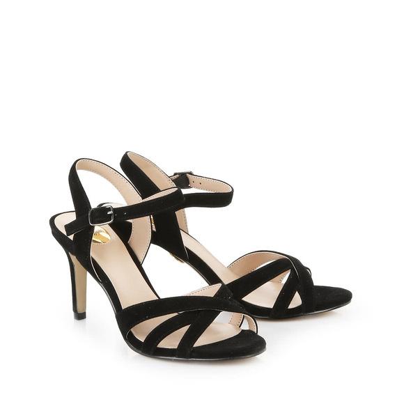 Buffalo Sandalette in schwarz aus Veloursleder online kaufen   BUFFALO® 2f5550257b