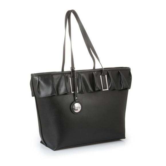 5fd37217f6cb Buffalo Schultertasche mit Volants in schwarz buy online in BUFFALO Online-Shop    BUFFALO®
