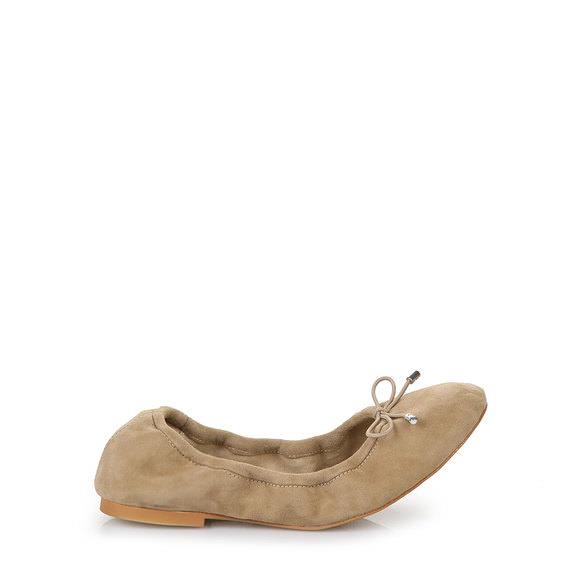 Ballerina in beige aus Veloursleder Buffalo