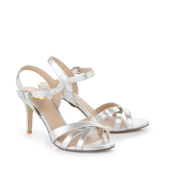 6fd1d5c71bf414 Buffalo high-heeled sandals in silver buy online in BUFFALO Online-Shop