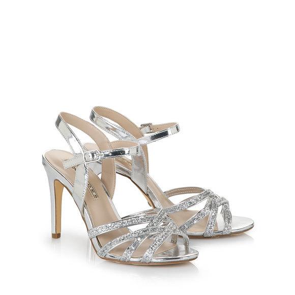 buffalo high heeled sandals in silver buy online in buffalo online shop buffalo. Black Bedroom Furniture Sets. Home Design Ideas