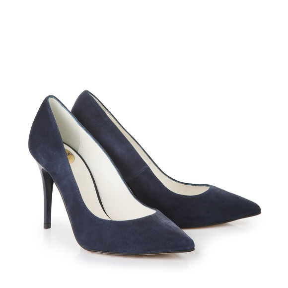Buffalo pointed-toe heels in dark blue with 9 cm heel buy online ...