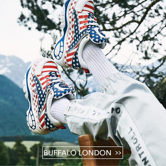 Buffalo London Stiefelette mit Nieten, bordeaux rot, Schuhe