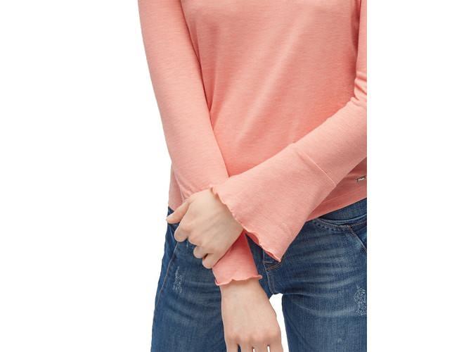 tom tailor denim bluse mit trompeten rmeln die dodenhof online shoppingwelt. Black Bedroom Furniture Sets. Home Design Ideas
