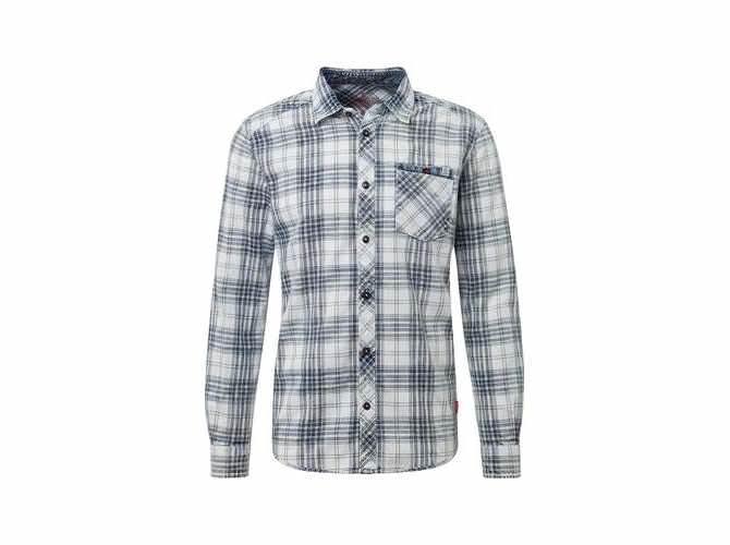 Tom Tailor Herren white Hemd mit Muster langärmlig mit