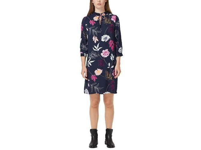 gut aussehend modernes Design großer Rabatt S. Oliver Blusenkleid mit Smok-Details