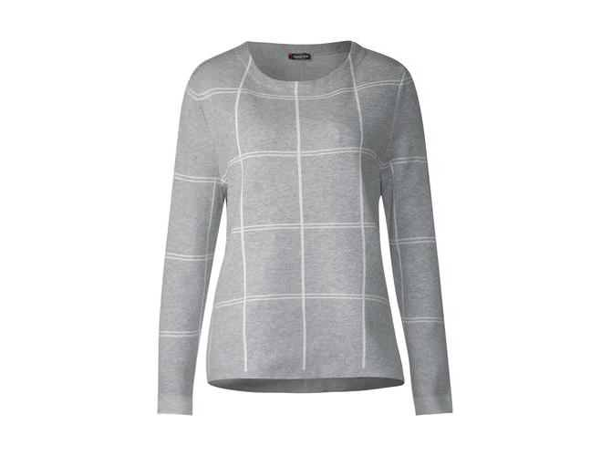 lange Ärmel Rippstrick-Pullover mit Blockstreifen s.Oliver Damen Pullover